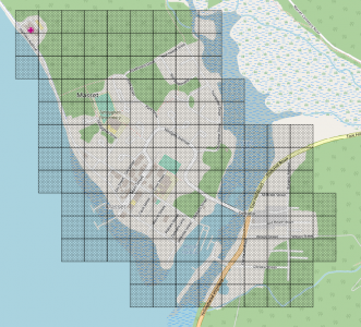 Masset BC OSM map grid